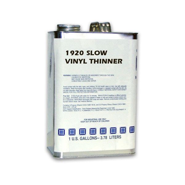 Slow solvent and thinner for vinyl inks.
