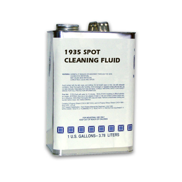 A spot cleaning fluid for cured and uncured inks.