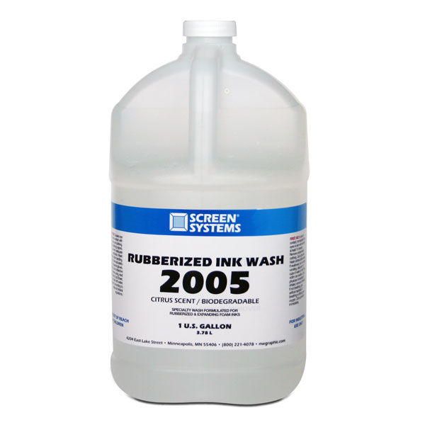A specialty wash made for rubberized inks and expanding foam  inks.