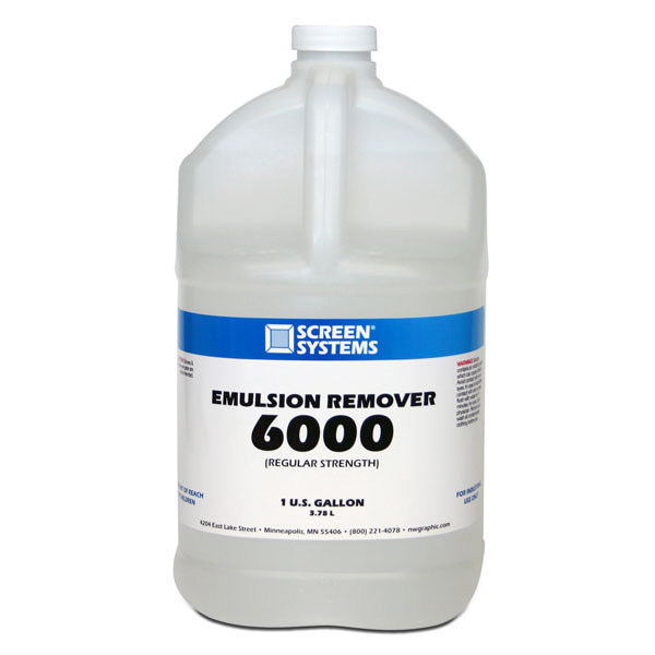 Apply to screen and power spray out emulsion.